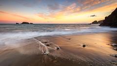 Kilfarrasy Summer Sunset (Graham Daly Photography (ASINWP)) Tags: canon1635 canon6d coppercoast countywaterford grahamdalyphotography kilfarrasy landscapephotography leendfilter longexposure nisi3stopgraduatedndfilter nisifilters nisiv5pro ocean seascapes sunset beach coastalimages coastalphotography dusk eveninglight imagesofireland landscapesofireland magichour rolleitripod wideangle