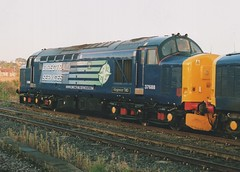 """Direct Rail Services 'Compass' Class 37/5, 37688 """"Kingmoor TMD"""" (37190 """"Dalzell"""") Tags: drs directrailservices compass ee englishelectric type3 growler tractor class37 class375 37688 kingmoortmd 37205 d6905 york"""