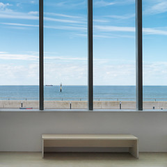 Looking out to sea (Tim Ravenscroft) Tags: turner gallery margate seascape architecture window hasselblad x1d hasselbladx1d