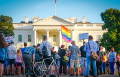 2017.07.26 Protest Trans Military Ban, White House, Washington DC USA 7640