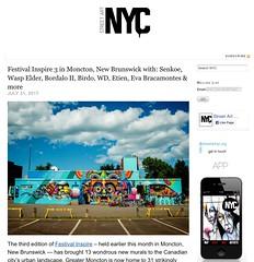 Senkoe in Festival Inspire 3: more on StreetArtNYC.org (LoisInWonderland) Tags: senkoe streetart muralart publicart streetartfestival urbanart moncton newbrunswick canada