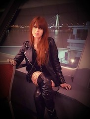 Amphi Festival backstage on the river Rhein, Cologne 2017, after a sold-out headlining show @ Ship! (mobile instant shot by Angelo Bergamini / Outfit by Morgan Visioli Fashion) (kirliancamera) Tags: elenaalicefossi elenafossi kirliancamera spectraparis singer vocalist leadvocalist musician musicproducer amphifestival köln germany festival backstage electronicmusic pop vaporwave darkwave talented musicteacher girl woman fashion glamour glamourphotography galaxys7edgephoto beautiful thighhigh thighhighboots beauty