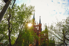 fghfy15yd (olegmescheryakov) Tags: park sky landscape sunrise city sunset street nature travel religion church light clouds cloudscape house tower old urban architecture tree cityscape summer building leaf horizon wood sight town outdoors dusk no person moskva moskau russland