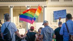 2017.07.26 Protest Trans Military Ban, White House, Washington DC USA 7639