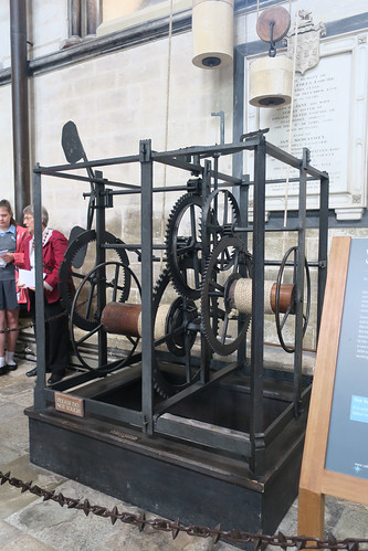 Oldest clock in England from 13th century at Salisbury Cathedral