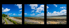 Red Wharf Bay (Nigel Wallace1) Tags: triptych wide lands wales northwales clouds cloudscape no people beach anglesey sand olympus omdem1 1240mm nature beautyinnature