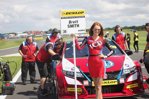 Brett Smith on the BTCC grid at Snetterton, July 2017