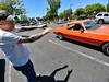Bobby: 1976 Chevrolet Camaro LT (RZ68) Tags: 1976 chevrolet chevy camaro orange classic vintage 350 v8 biker man tattoo street lg lgg6