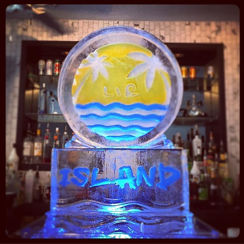 Happy #birthday Keemon! Trying to cool off the festivities @thebelmont with this #custom #icesculpture #logo #fullspectrumice #austin #thinkoutsidetheblocks #brrriliant - Full Spectrum Ice Sculpture