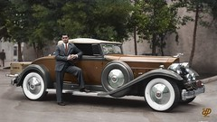 Clark Gable Poses By His 1932 Packard (Chicken 62) Tags: clark gable 1932 packard