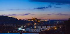 Prague Panorama (Tom Mrazek) Tags: landscape city sunset street travel urban cityscape summer orange colors sony vivid prague panorama skyline czech republic czechia