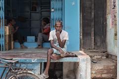 The Ponderer (Andrew G Robertson) Tags: varanasi india street streetphotography stare sit wait canon canon5dmkiv 5d mkiv mk4 uttar pradesh benares