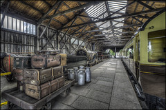 The Platform (Darwinsgift) Tags: didcot railway centre museum 15mm zeiss distagon hdr photomatix nikon d810 trains train locomotive carriages platform history f28 zf