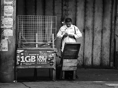Security (Beegee49) Tags: security guard street ravenous changing shirt bacolod city philippines