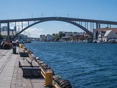 Haugesund (Julian Chilvers) Tags: norway haugesund bridge harbour water smedasundet