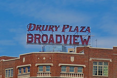 Drury Plaza Broadview, Wichita, KS (Robby Virus) Tags: wichita kansas ks drury plaza broadway hotel scaffold sign signage haunted national register historic places