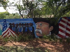Teddy Roosevelt and his Roughly Drawn Riders (st_asaph) Tags: tampa ballastpoint trr teddyroosevelt theodoreroosevelt roughriders spanishamericanwar williamrandolphhearst mural