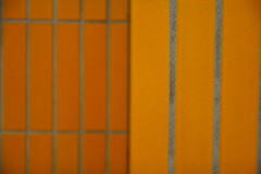 don't we live in squares all the time (raumoberbayern) Tags: abstract minimal munich münchen robbbilder lines linien urbanfragments orange ubahn subway tiles kacheln wall wand