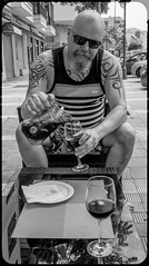 Sangria . (CWhatPhotos) Tags: puerto del la cruz tenerife going holiday holidays photographs photograph pics pictures pic picture image images foto fotos photography artistic that have which with contain olympus esystem four thirds digital camera lens 43 mft micro cwhatphotos me portrait tattoo tattooed tattoos tatts inked tribal shoulders chest blue goatee beard pose drink drinking relax relaxed male man