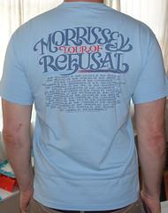 #2189B Morrissey - Southpaw Grammar Tour Of Refusal 2007 (Minor Thread) Tags: minorthread tshirtwars tshirt shirt vintage rock concert tour merch blue morrissey moz thesmiths tourofrefusal 2007 1995 pop britpop indie