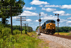 62 Split (Wheelnrail) Tags: csx csxt train trains indiana subdivision cpl signal railroad rail road locomotive ge q504 in nebraska freight codeline rails