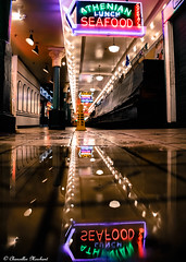 Pike Place After Hours (Endless Reflection Photography) Tags: pikeplace pikemarketplace pikeplaceafterhours seattle downtownseattle seattletourist touristattraction seattletouristattraction neonsign seatown endlessreflectionphotography ereflectionphotos cmerchant1 pacificnorthwest seattlereflection pikeplacereflection streetphotography seattlestreetphotography seattleafterhours seattlephotographer seattlewaterfront seattlemoodyphotos