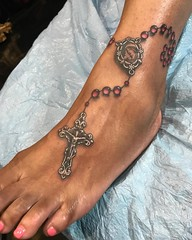 Photo (Noelin Wheeler) Tags: little rosarytattoo from other day i havent done one these years basilicatattoo noelinwheeler instagram noelin tattoo las vegas basilica