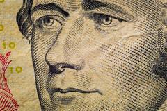 Alexander Hamilton on Ten Dollar Bill (Tovar Photography) Tags: dollar bill usa us currency macro magnification magnify 85 85mm rokinon samyang extension tubes tube kenko ten 10