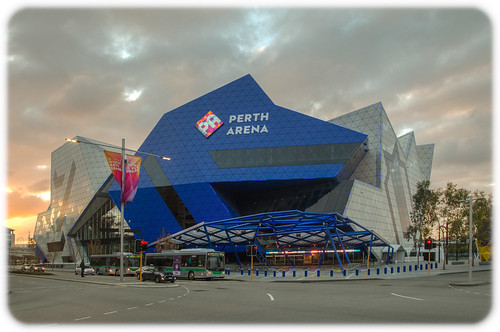 Perth Arena at Near Sunset