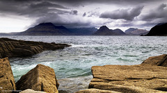Watching the cloud show. (lawrencecornell25) Tags: landscape waterscape elgol coast skye scenery scotland isleofskye cuillins mountains lochscavaig clouds cloudy stormy nikond5 outdoors nature