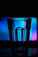 Light glass (Jorisvanstaveren) Tags: purple blue glass tv light shadows canon 1300d