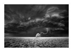 Lightning Strike II (Sandra Herber) Tags: infrared oklahoma stormchasing