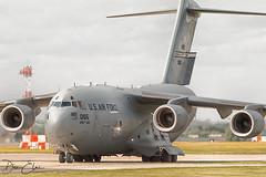 USAF's Big Momma (Dan Elms Photography) Tags: c17 boeing boeingc17 usaf usafe cargo heavy wrightpattersonafb lakenheath raflakenheath 990165 globemaster globemasteriii c17a