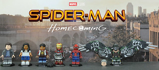 LEGO Spider-Man: Homecoming - Custom Painted Minifigures