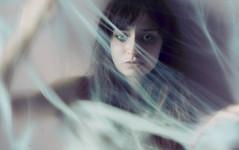 (Wi†chin) Tags: blur smudge sad fear emotions light eyes spiderweb girl