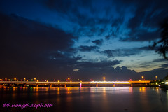 Hoa An Sunset (Hương Thảo (ake)) Tags: landscape water river longexposure bluesky cloudy sigma1750