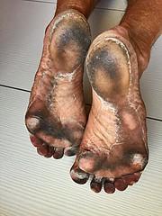 13,5 km running (danragh) Tags: soles running barefoot