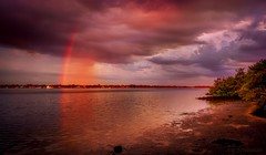 Behold Her Magical Beauty (JDS Fine Art Photography) Tags: rainbow colors landscape nature naturesbeauty naturalbeauty magic beauty inspirational beach water sky clouds sunset