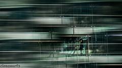 Line walker - DSC06740-28 (cleansurf2) Tags: sony screensaver surreal ilce ilce7m2 city cityscape cinamatic abstract urban 16x9 widescreen wallpaper landscape ar australia architecture artistic lines steel building bridge hum human element black silver blue walk walkway sydney topaz