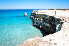Torre dell'Orso (Valdy71) Tags: italy italia mare scogliera sea blue color puglia apulien valdy nikon beach spiaggia seascape