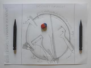 Counting Circles - Eight Ein Kreis? 8 Acht 八 hachi hatschie Gesundheit! - am Foto sind mehr Kreise (Punkte, 8 sind 2 Kreise, 6 ein Kreis...) Handwerkszeug der Souffleuse: Bleistift Radiergummi - kaveco 0,9 kaveco 2,0, Spitzer unnötig kein Holzverschleiß