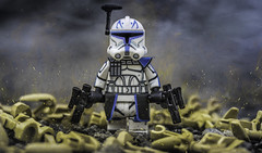 My Name is Rex. (Lego_LUTs) Tags: purple green yellow blue storm trooper star wars war lego outdoors clone troopers first order blasters afol minifigs minifigures bricks blocks canon toy toys force legos t3i republic people photoadd atst death rogue one dirt practical effects orange 60mm rex 501st