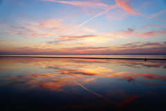 Weather Vain (JamieHaugh) Tags: clevedon northsomerset england uk sony a6000 evening sunset clouds red sky water reflection seascape outdoors color nature britain