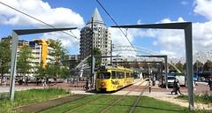 Tingeling (mark-jandejong) Tags: düwag tram strasenbahn rotterdam ret lijn10 romeo kubuswoningen