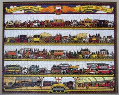 The Londoner's Transport Throughout the Ages (1928) (pefkosmad) Tags: jigsaw puzzle hobby leisure pastime 1000pieces used complete secondhand pomegranate transport thelondonerstransportthroughouttheages richardtcooper poster timeline