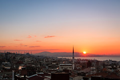 Sunrise over Anatolia (Anthony P26) Tags: category citiestowns flickrpost istanbul places sunrise travel turkey travelphotography dawn morning canon1585mm canon70d canon city houses streets buildings water sea continents hills coast coastline coastal seascape sky minaret mosque cityscape skyline