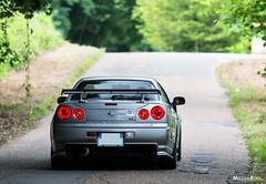 Nissan R34 GTR (Mickael Roux [JapCars]) Tags: nissan bnr34 r34 gtr skyline godzilla nismo datsun dnameet dna meet grey ztune vspec car voitue automobile auto cars japan japon japanese sportcar sport rb26 engine turbo turbocharger roux mickael canon 70 200 f28