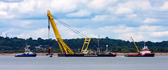 Solent 30 June 2017 1.jpg (JamesPDeans.co.uk) Tags: cranes landscape engineeringasart prints for sale unitedkingdom man who has everything britain wwwjamespdeanscouk landscapeforwalls europe uk england art dredger greatbritain industry tug sea boats workboat digital downloads licence colour places ships crane gb hampshire yellow transporttransportinfrastructure isleofwight solent descriptions james p deans photography