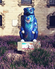 Peabody (louiseh24) Tags: thebigsleuth bigsleuth bears peabody stpaulssquare birmingham birminghamuk brum july 2017 peacock heather rhinestones statue publicart