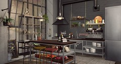 """Kitchen is where the love is..."" - Interior setup - Industrial Steampunk Kitchen (Jack Hanby - Grandeur decor) Tags: kitchen interior industrial raw elements moving ahead time steampunk factory warehouse bare knowing historic engineering"